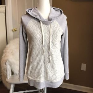 3/$15 hooded pullover w/ front crotchet detail